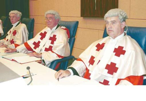 Left to right: Lords Coulfield, Sutherland and Maclean