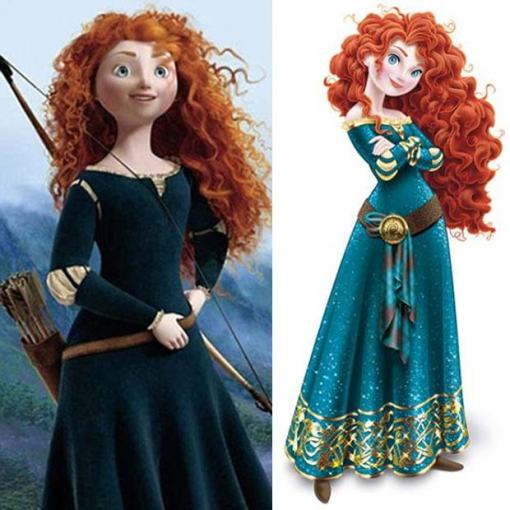 Wrong kind of bow: Disarming Disney makeover for Princess Merida (from 'Brave')